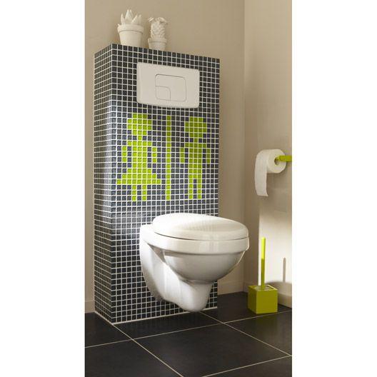 19 best salle de bain 3 images on Pinterest Bathroom, Ps and Showers - meuble pour wc suspendu leroy merlin