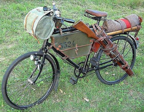americabymotorcycle: Swiss Army bike by Indread Coal on Flickr.