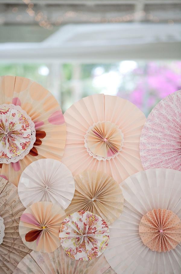 Wedding Wall Decor 39 best rosetones / paper fans decor images on pinterest