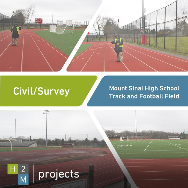 H2M's Civil Engineering department provided recent survey services to Mount Sinai High School's track and football field. Here are some photos from the project!  #H2M #Architects #Engineers #Architecture #Engineering #CivilEngineering #Survey #Surveying #Services #Team #JoinOurTeam #Professionals #Design #Designers #WorkWithUs