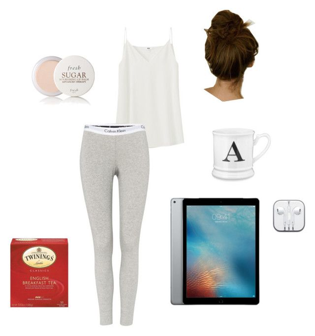 """""""Anastasia Steele - Receiving the iPad from Christian & listening to Christian's playlist in bed"""" by ohmyfifty on Polyvore featuring Uniqlo, Calvin Klein, Williams-Sonoma and Fresh"""