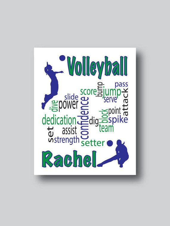 Volleyball Art, Volleyball Decor, Volleyball Team, Volleyball Coach Gift,  Volleyball Print, Volleyball Gift, Girls Room Wall Art,Pick Colors