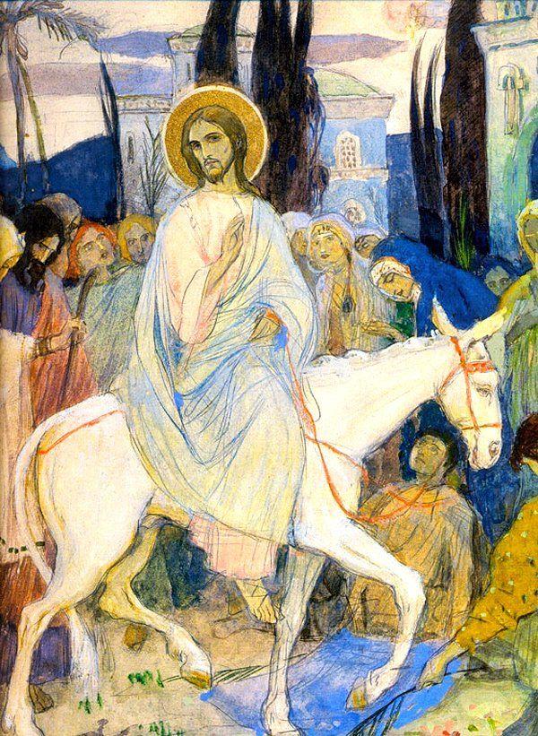 The Entry into Jerusalem  Mikhail Nesterov . 1900