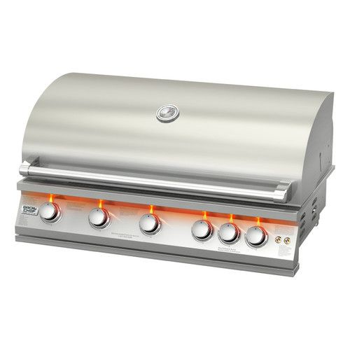5-Burner Built-In Natural Gas Grill | Natural gas grill ...