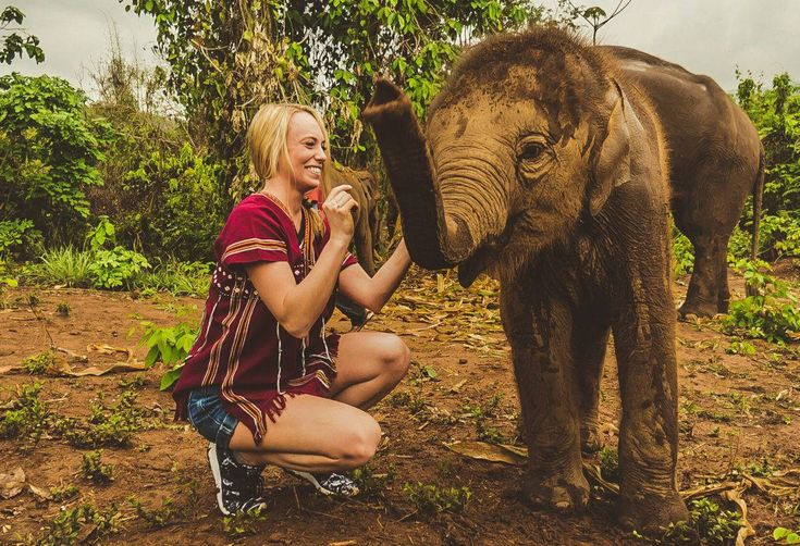 WORLD TRAVEL DUO - Want to play with ELEPHANTS in Thailand? Full access look at our Elephant Sanctuary Chiang Mai Day & what you need to know!
