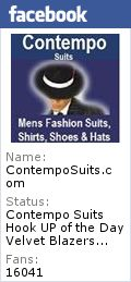 Mens Black Zoot Suit Style Tuxedo by Fortino T903V
