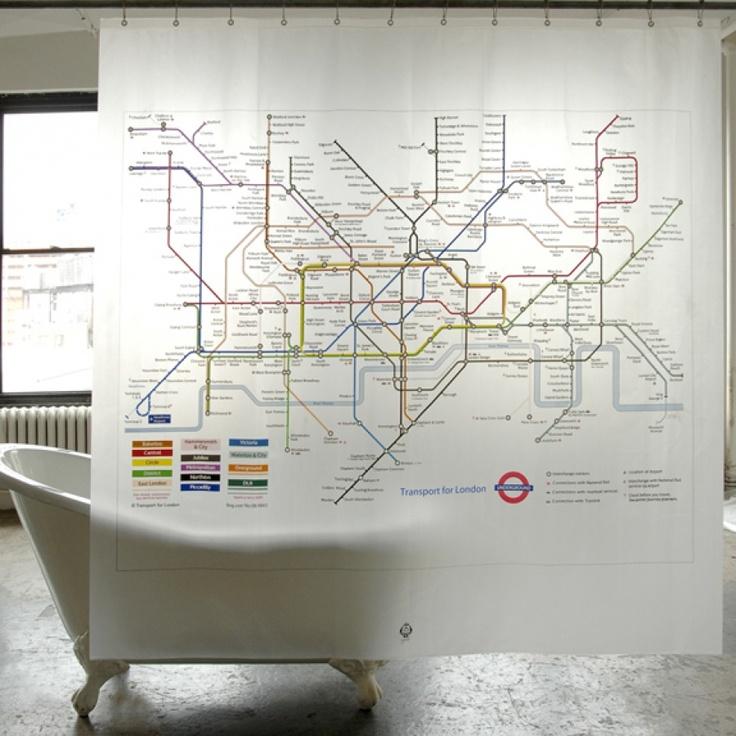 London Underground Shower Curtain 47 best London