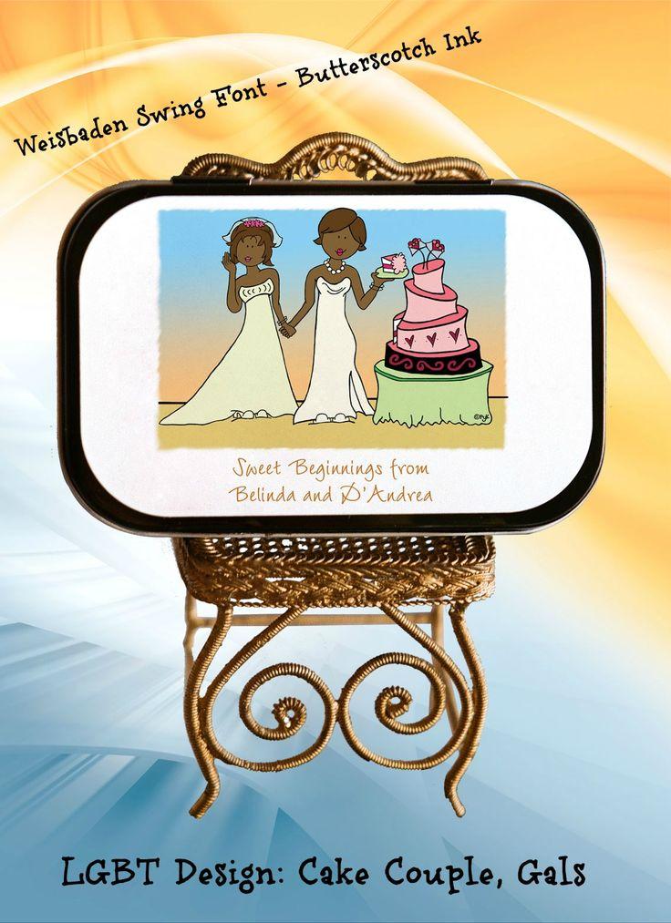 Candy Tins Lesbian Wedding 30
