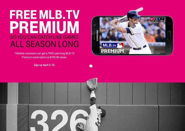 Free MLB.TV Premium for Tmobile Customers