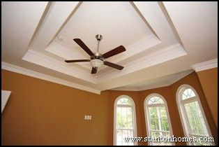 Complex trey ceiling with multiple levels. Watch a full tour of this home at http://www.stantonhomes.com/Lowery.aspx