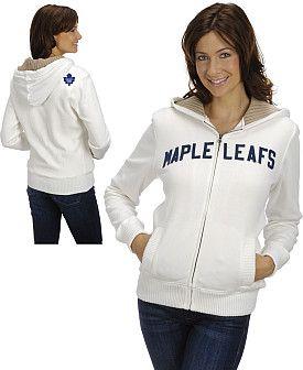 #GETincFashion #NHL Rinkside Toronto Maple Leafs Womens Jacket with Sweater Lined Hood-NHL Shop Exclusive - Shop.Canada.NHL.com