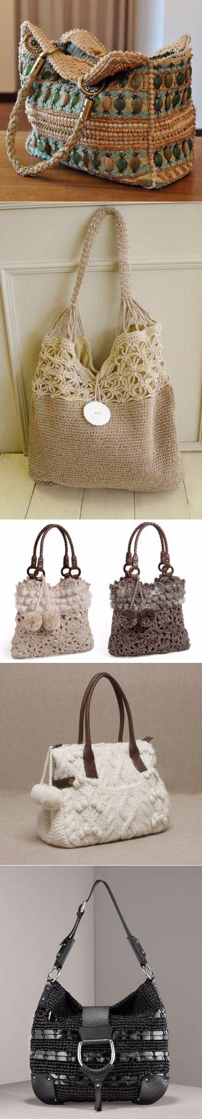 схема вязании сумочки с кики