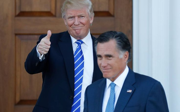 Trump and Romney, once bitter rivals, smile and shake hands #Politics #iNewsPhoto