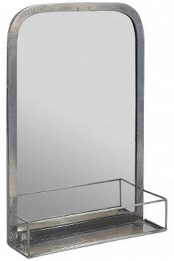 Jardin d'Ulysse Metal Mirror with Shelf at Sue Parkinson