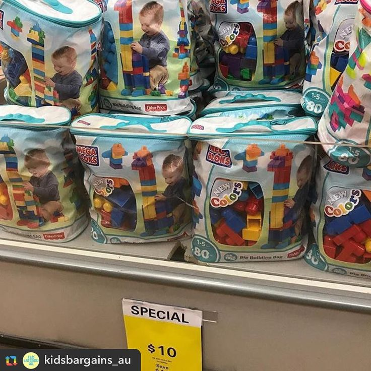 Repost from @kidsbargains_au: #FisherPrice 80 piece #MegaBloks now #halfprice at #BigW until 8/11 Were $20 now just $10 save $10