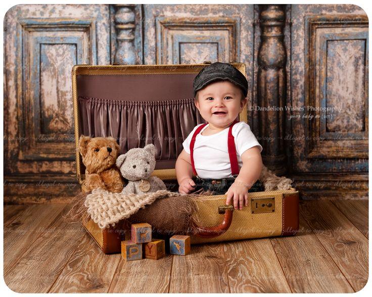 Artistic 6 month baby photos..xero' ho preso la pixxa e basta