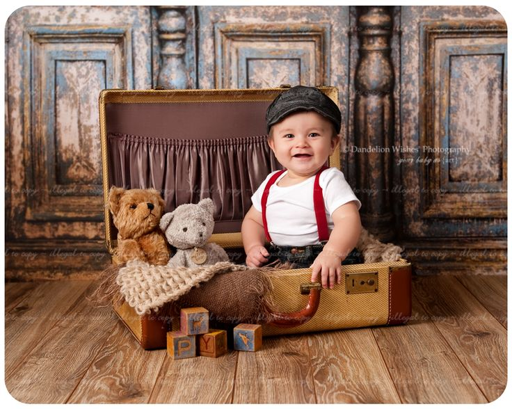 Artistic 6 month baby photos