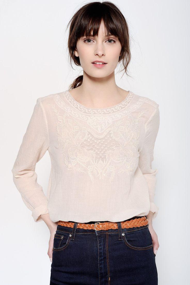 Blouse Habi Poudre - Blouses et chemises - categories - e-shop