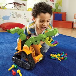 Part dinosaur, part construction vehicle, there's no project too tough for the Dino Construction Company!  Perfect for dirt, sand & even carpet, these mega-morphs can build and bash anything, anywhere!  Get it: http://www.mastermindtoys.com/Educational-Insights-Dino-Construction-Company-Wrecker-the-T-Rex-Skid-Loader.aspx
