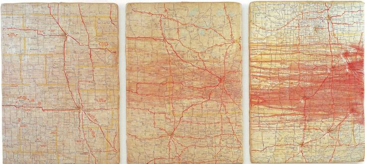 """Guillermo Kuitca, uses maps """"to get lost, not to get oriented."""""""