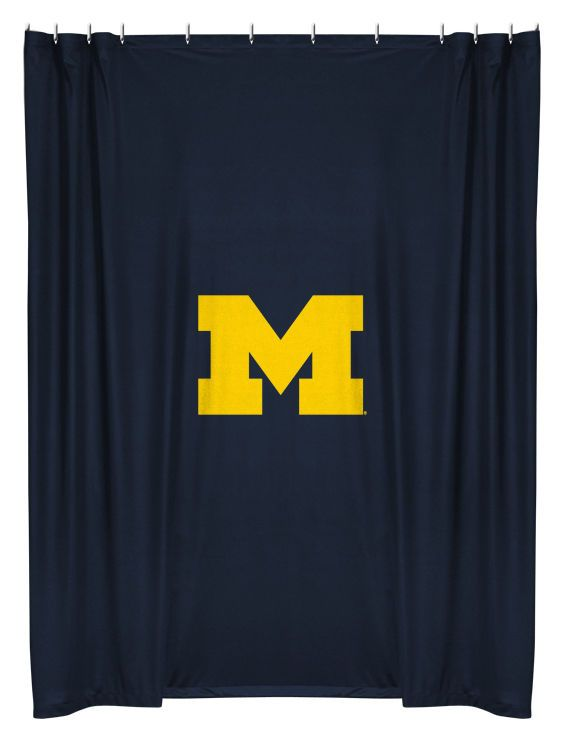Michigan Wolverines NCAA Sports Coverage Team Color Shower Curtain #SportsCoverage #MichiganWolverines