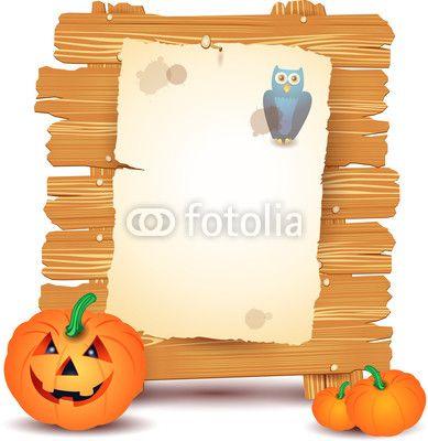 Halloween signboard, custom illustration