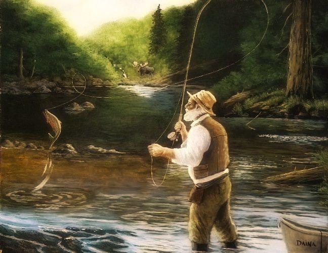 Дед рыбак картинка