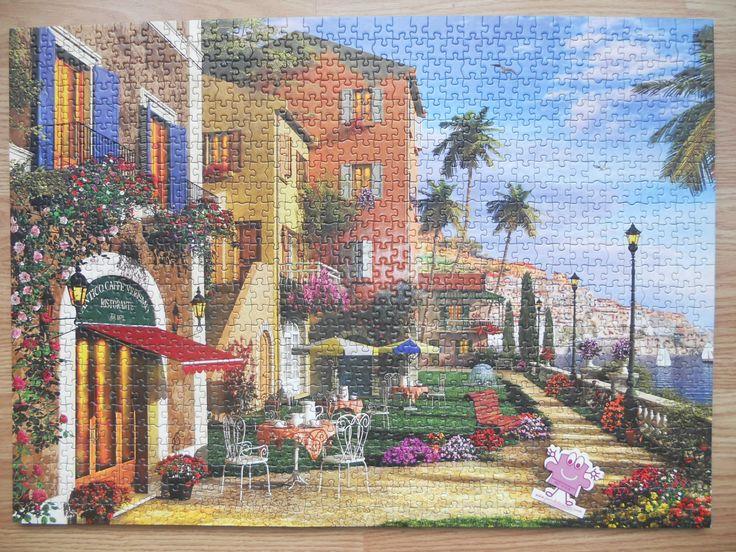 """""""KS Games Themed Terrace 1000 parça"""" Hazır yapılmış ve yapıştırılmış çerçeveye hazır puzzle Aynı gün kargo!  Satın almak ve fiyat bilgisi için ürün görseli üzerine tıklayın lütfen..!!"""