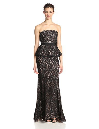 cool Adrianna Papell Women's Strapless Lace Gown with Peplum -Strapless lace gown Peplum gown Built in bra cups -http://weddingdressesusa.com/product/adrianna-papell-womens-strapless-lace-gown-with-peplum/