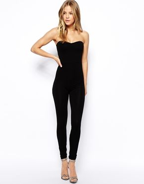 ASOS Bandeau Jumpsuit with Sweetheart Neck