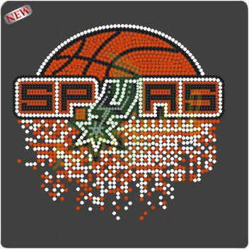 Rhinestone Spurs Transfer,Basketball Iron On Motif (http://topmotif.en.alibaba.com/ )