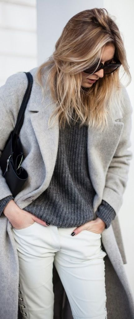 Winter Outfit in Shades of Gray.