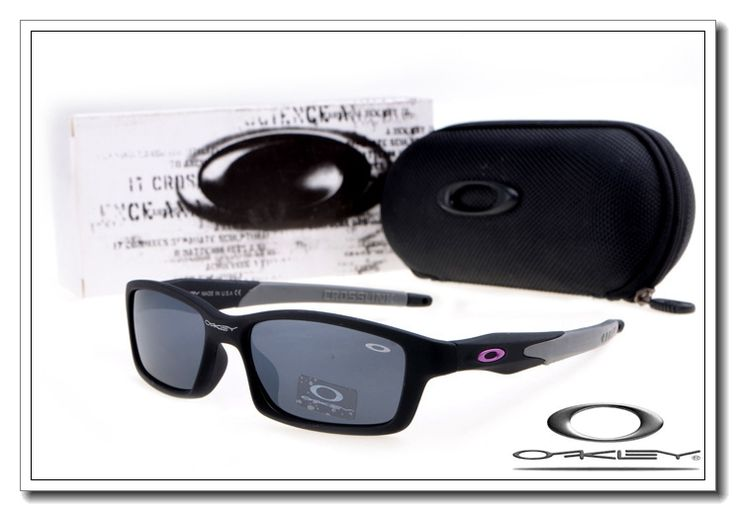 OAKLEY CROSSLINK SUNGLASSES MATTE BLACK / BLACK IRIDIUM