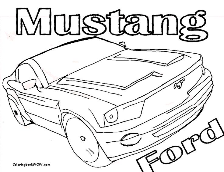coloring book pages to print kids coloring pages to print car_30_ford_mustang_coloring pages book
