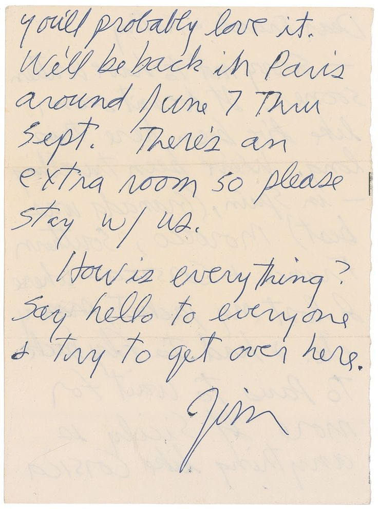 Rare 1971 Jim Morrison Letter Up for Auction