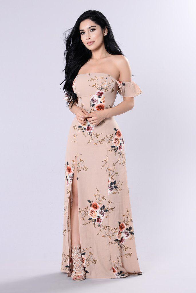 Lovely Garden Dress - Mocha/Floral