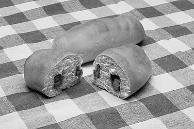 """Pepperoni Roll - The pepperoni roll was invented by Giuseppe """"Joseph"""" Argiro at the Country Club Bakery in Fairmont, West Virginia, in 1927. The rolls originated as a lunch option for the coal miners of north-central West Virginia in the first half of the 20th century.."""