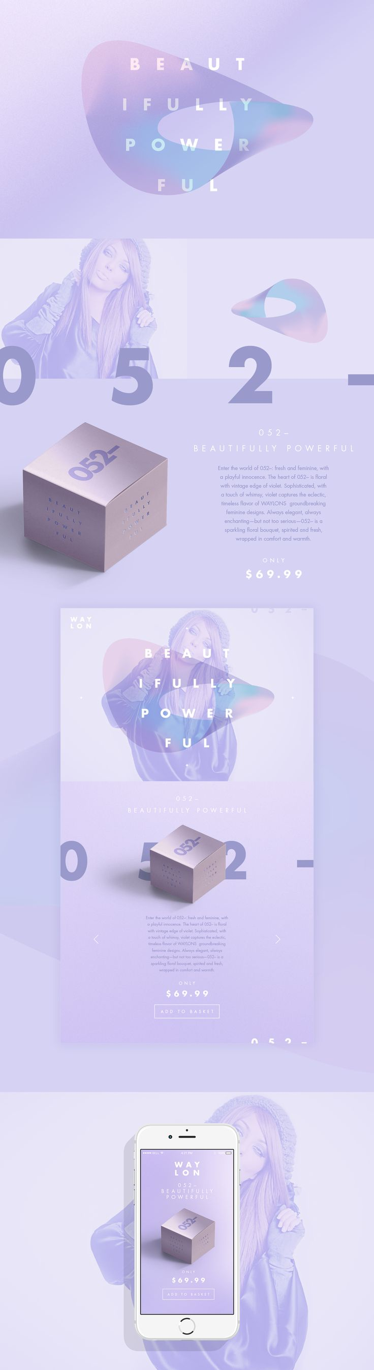 WAYLON // Beautiful Perfume Brand and Ui design concept by Jonathan Quintin on Behance.