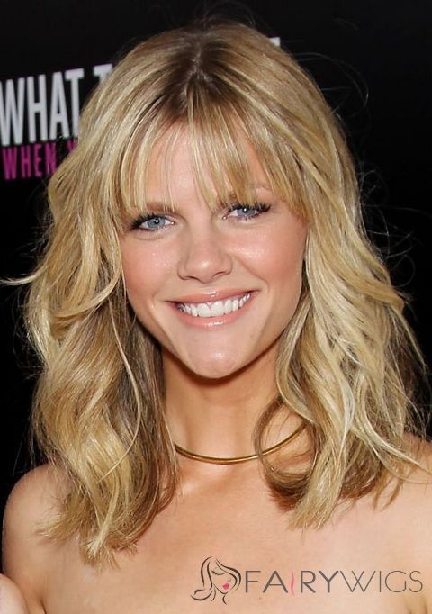 Full Lace 2013 New Medium Blonde Wavy 100% Indian Remy Hair Wigs $255 half price sale fairy wigs