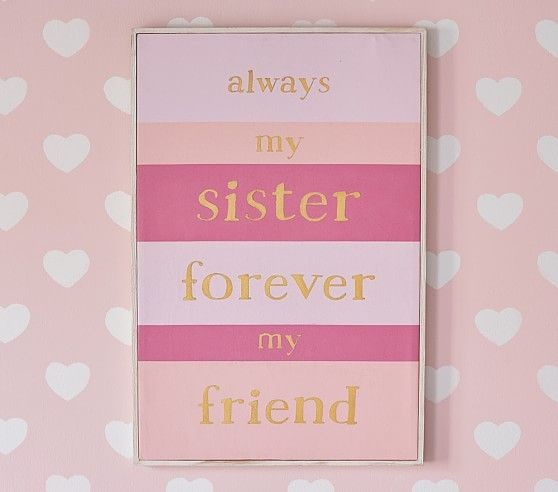 Sister Sentiment Art | Pottery Barn Kids