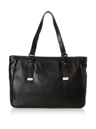 Zenith Women's Wall Street Buckle Tote, Black