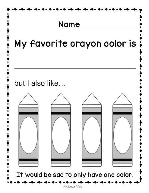 The Crayon Box That Talked Freebie for PreK