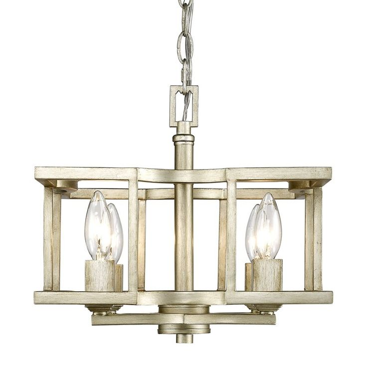 <p>Add a touch of simple elegance to your home with the Dawson 4 Light Semi Flush Mount. Showcasing neoclassical lines, a clean open-cage design in a geometric pattern, a beautiful hand-painted white gold finish, and a detailed decorative chain, this eye-catching mount is brimming with timeless sophistication. </p><p>Try hanging this chic design in your entryway to craft an inviting and chic atmosphere to greet visitors in style. Or use this lovely luminary to your livi...