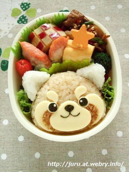 Red Panda bento onigiri