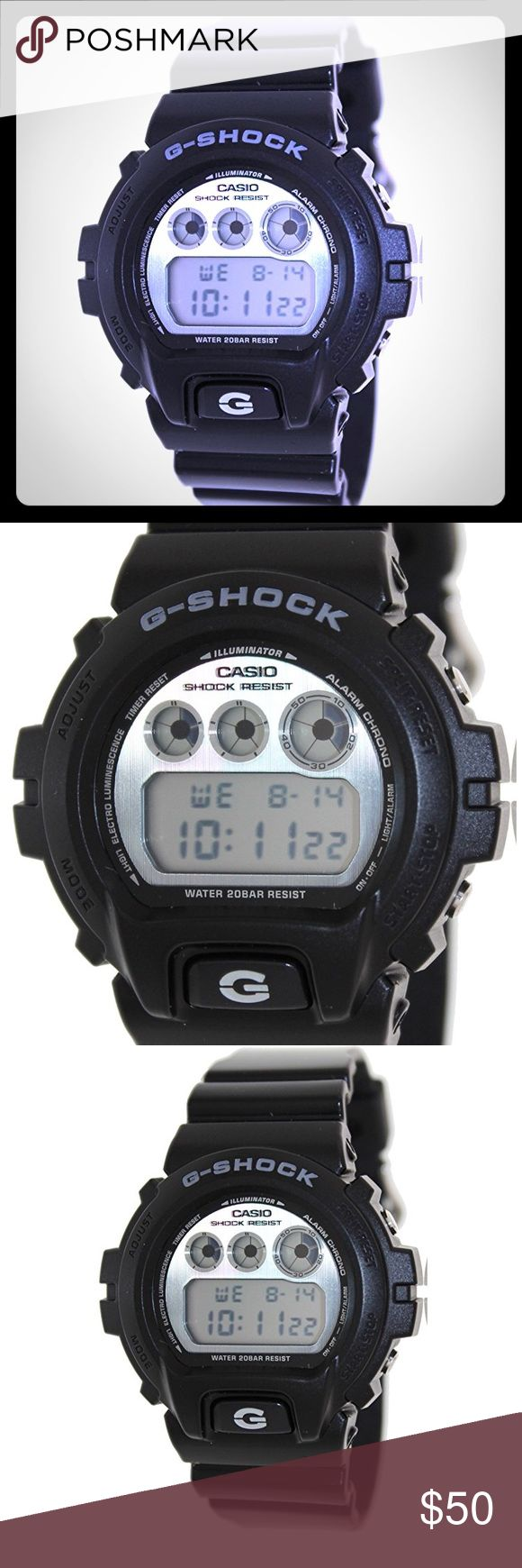 G-Shock Watch in All Black G-SHOCK The DW6900 Watch in Black. Digital watch with resin band; LED light; 200M water resistant; shock resistant; calender; world time. By G-Shock. G-Shock Accessories Watches