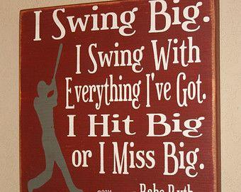 Baseball Decor Baseball Sign Baseball Quote Babe by DeenasDesign