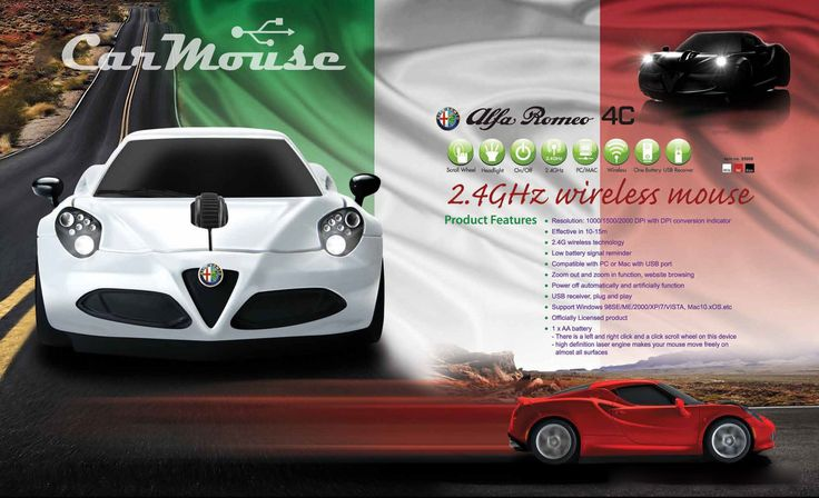 Alfa Romeo 4C carmouse automouse mysz usb