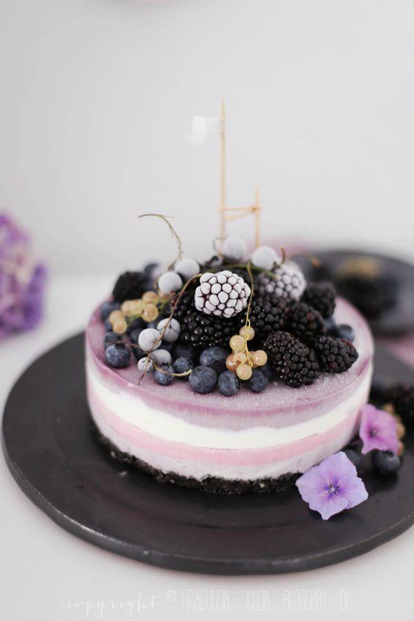 Frozen Berry Oreo cheesecake and blackberry yogurt ice cream