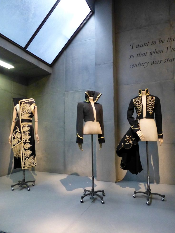 Masterful displays of cutting with variations on military dress at Savage Beauty at the V&A, the life's work of Alexander McQueen