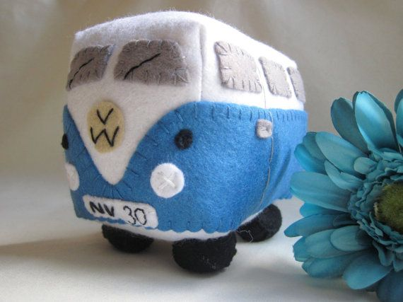 VW Campervan Plush Collectible Toy Personalized by GracesFavours, £22.00